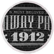 Fenway Park Boston Ma 1912 Sign Round Beach Towel