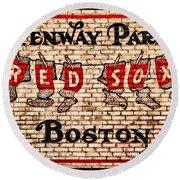 Fenway Park Boston Redsox Sign Round Beach Towel