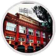 Fenway Park In October 2013 Round Beach Towel