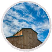 Fenwick Barn  7p01967 Round Beach Towel