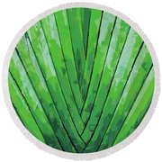 Fern - Color Marker Round Beach Towel