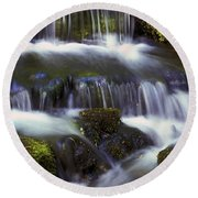 Fern Falls - 31 Round Beach Towel