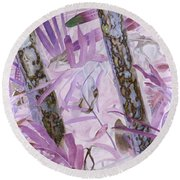 Fern Forest Round Beach Towel