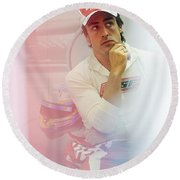Fernando Alonso 3 Round Beach Towel