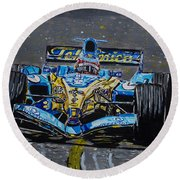 Fernando Alonso In Blue Round Beach Towel