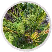 Ferns II Round Beach Towel