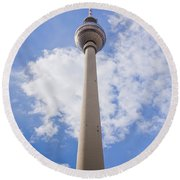 Fernsehturm Berlin Round Beach Towel