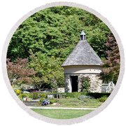 Fernwood Botanical Garden Stone Herb House Usa Round Beach Towel