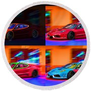 Ferrari Collage Round Beach Towel