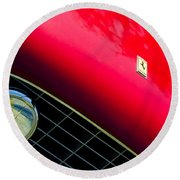 Ferrari Grille Emblem - Headlight Round Beach Towel