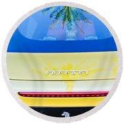 Ferrari Rear Emblem -0062c Round Beach Towel