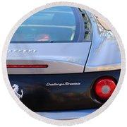 Ferrari Rear Emblem - Taillights -0089c Round Beach Towel