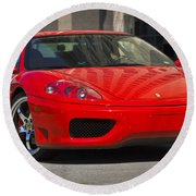 Ferrari Red Round Beach Towel