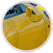Ferrari Side Emblem Round Beach Towel