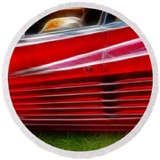 Ferrari Testarossa Red Round Beach Towel