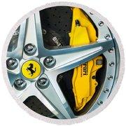 Ferrari Wheel 3 Round Beach Towel