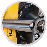 Ferrari Wheel - Brake Emblem Round Beach Towel