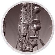 Ferris Wheel 1 Round Beach Towel