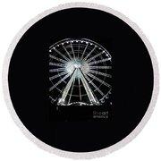 Ferris Wheel 10 Round Beach Towel