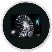 Ferris Wheel 11 Round Beach Towel