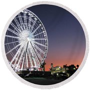 Ferris Wheel 16 Round Beach Towel