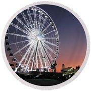 Ferris Wheel 19 Round Beach Towel