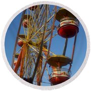 Ferris Wheel 2 Round Beach Towel