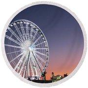 Ferris Wheel 21 Round Beach Towel