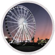 Ferris Wheel 22 Round Beach Towel