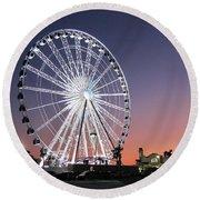 Ferris Wheel 23 Round Beach Towel