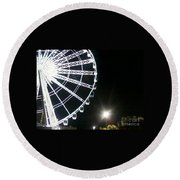 Ferris Wheel 5 Round Beach Towel