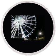 Ferris Wheel 6 Round Beach Towel