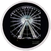 Ferris Wheel 7 Round Beach Towel