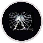 Ferris Wheel 8 Round Beach Towel