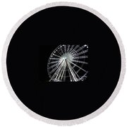 Ferris Wheel 9 Round Beach Towel