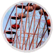 Ferris Wheel At Sunset Round Beach Towel