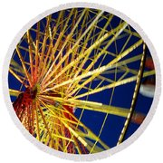 Ferris Wheel Round Beach Towel