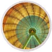 Ferris Wheel Evergreen State Fair Round Beach Towel