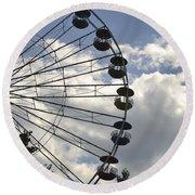 Ferris Wheel In The Sky Round Beach Towel