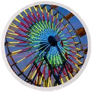 Ferris Wheel, Kentucky State Fair Round Beach Towel