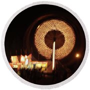 Ferris Wheel Spin Round Beach Towel