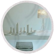 Ferruccio Laviani's Bourgie Lamp From Kartell Round Beach Towel