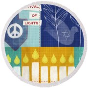 Festival Of Lights Round Beach Towel
