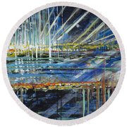 Festival On The Waterfront Round Beach Towel