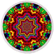 Festive Colors Round Beach Towel