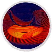 Fetal Light Form Round Beach Towel