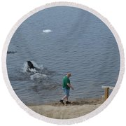 Fetch Round Beach Towel