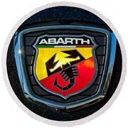 Fiat Abarth Emblem Round Beach Towel