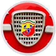 Fiat Emblem Round Beach Towel by Jill Reger