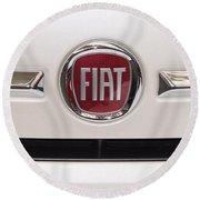 Fiat Logo Round Beach Towel